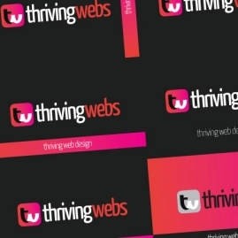 Thriving Webs Logo Design and Business Card