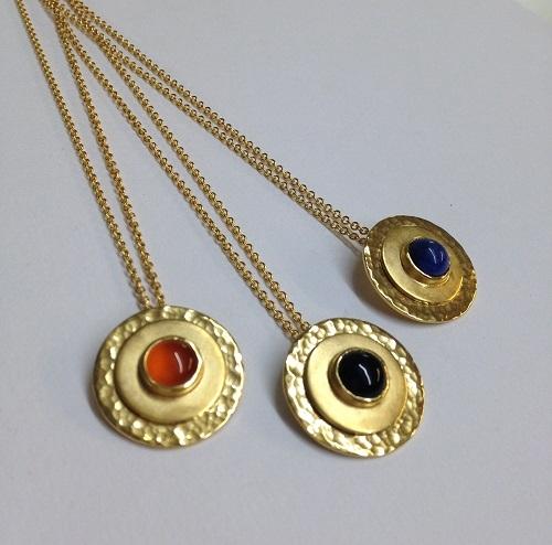 Jo Lennick handmade pendants - all with an Edinburgh Hallmark