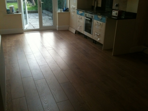 laminate floor kitchen area