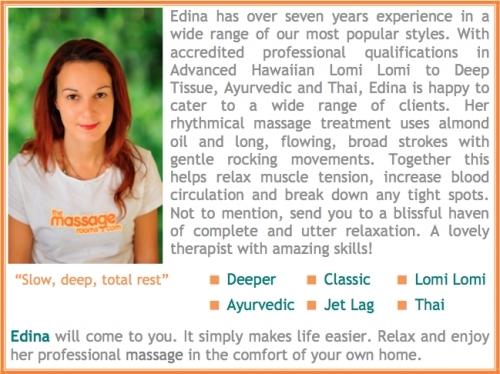 Edina Mobile Massage in London