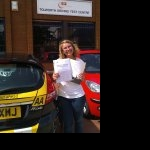 Lamia passed her driving test