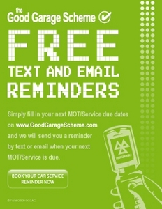Good Garage Scheme Free Text Reminder
