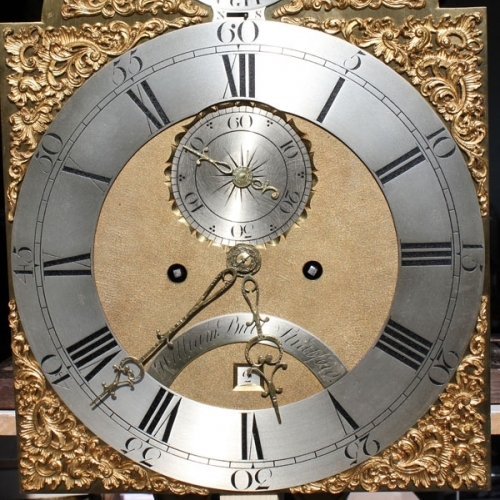 A 12in brass dial after cleaning and re-silvering