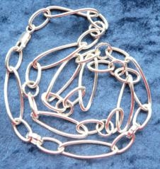 24 Inch Silver Hollow Hallmarked Hand Made Chain