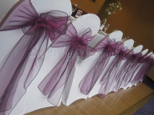 Chair covers & sashes available to hire