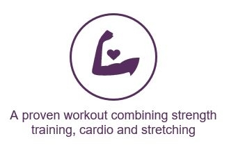 Strength training combined with cardio and stretching