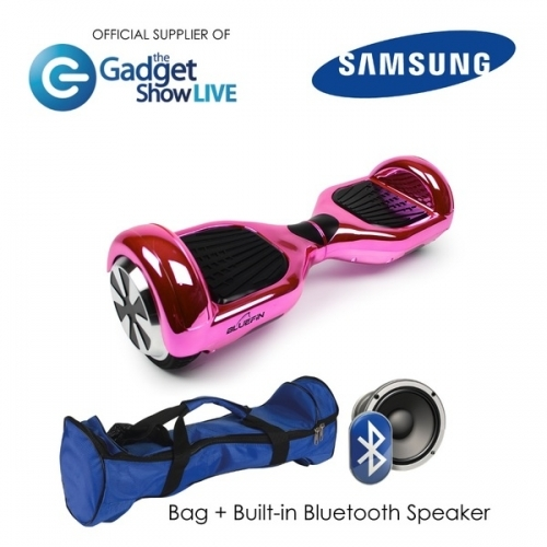 "6.5"" Pink Chrome Hoverboard Swegway"
