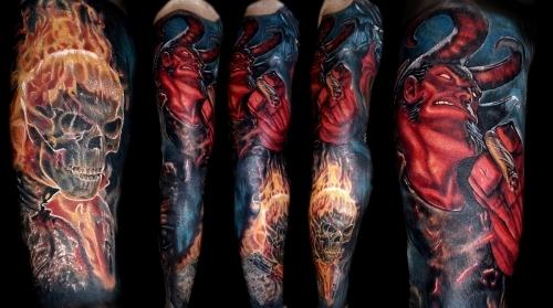 Marvel DC tattoo