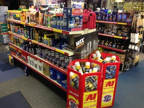 General Car Care displays