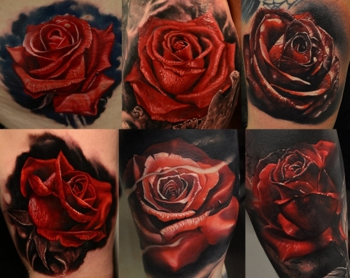 Sile sanda tattoo artist glasgow scotland tattoo artists for Red rose tattoo meaning