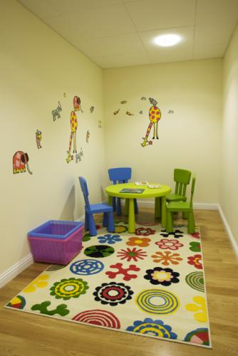 We have a dedicated area for keeping your kids occupied, and not disturbing the other patients.