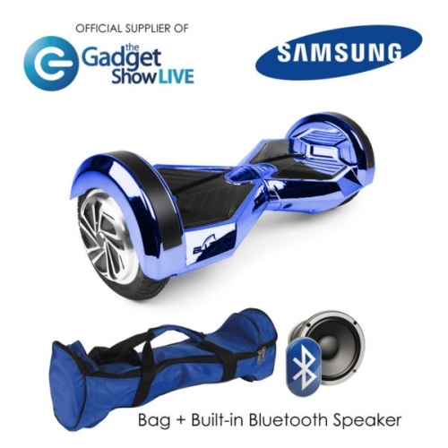 "8"" Blue Chrome Hoverboard Swegway"