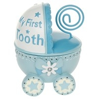 New Baby 1st Tooth Pram Box Boy 10 X 6cm