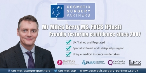Specialist Cosmetic Surgeon Mr Miles Berry MS, FRCS Plast