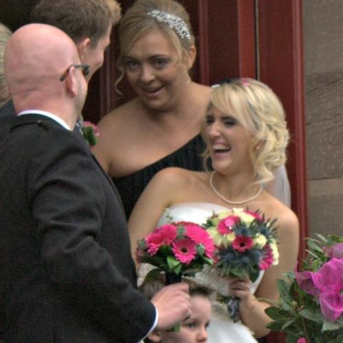 Gerbera wedding bouquet