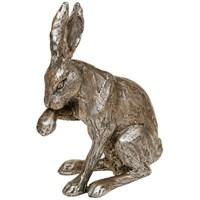 Champagne Bronze Hare Sitting 23 5 X 10 X 15 5cm