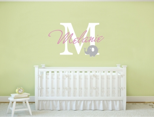 Nursery Monogram Wall Sticker