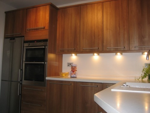 Replacement kitchen with Artis solid surface worktops for Mr McDonnell, Pangbourne