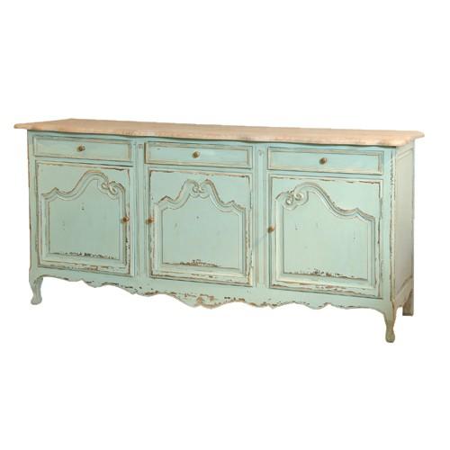 Etienne Turquoise 3 Door Dresser Base
