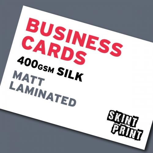 400gsm Matt Laminated Business Cards