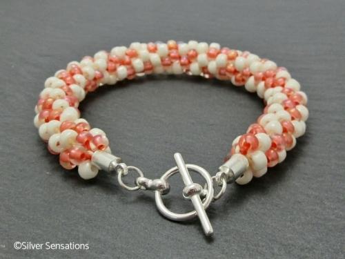 Peach Kumihimo Bracelet