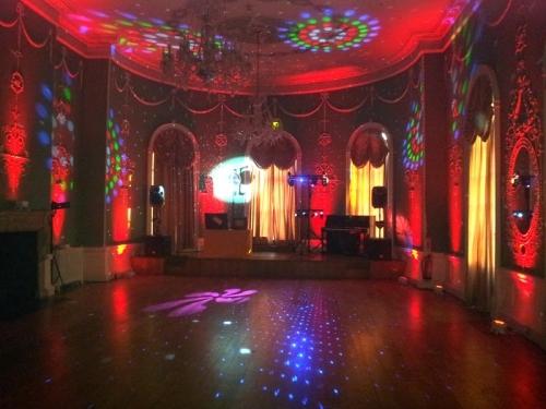 Vintage Wedding DJ uplighters
