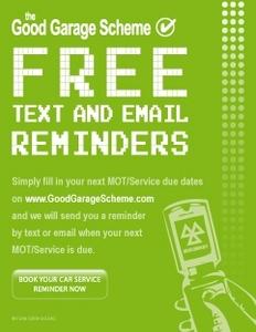 Good Garage Scheme Free Text Reminder