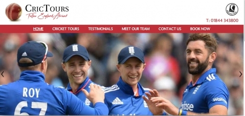 The Cricket Tour Company - (www.crictours.com) - Website Design for Sports
