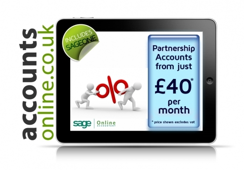 Partnership accounts from just £40 pm from Internet Accountants