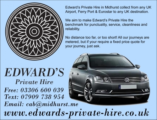 Edwards Private Hire Midhurst taxi service