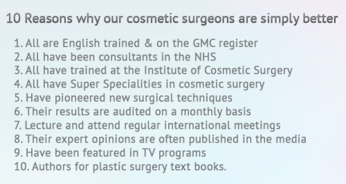 10 reasons why surgeons at Cosmetic Surgery Partners are simply better