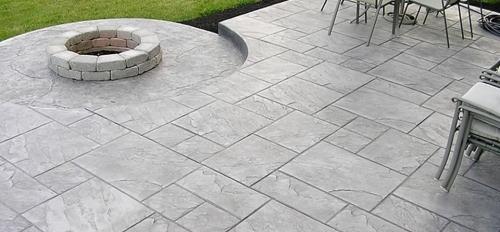 Imprinted concrete