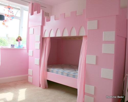 Castle Bunk  Bed Sweet Pink