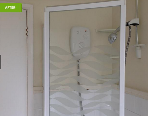 shower screen after clean