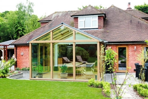 Contemporary Range Oak Conservatory in Ringwood, Hampshire