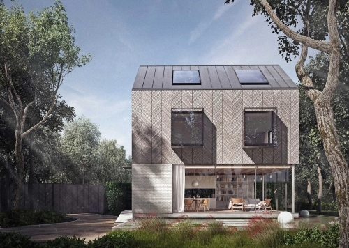 New build woodland house in Essex