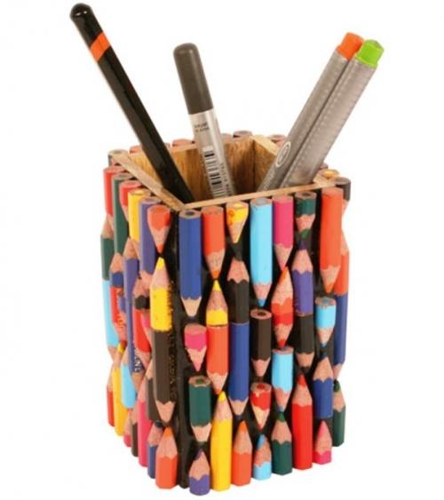 Recycled Crayons Pen & Pencil Pot