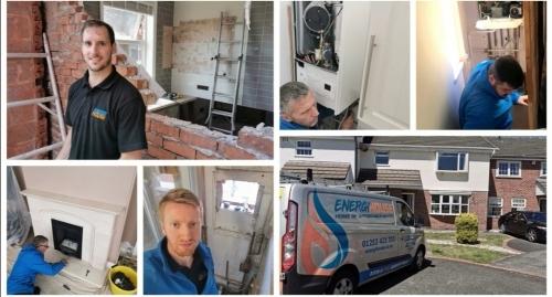 Energi House Heating Engineer Team At Work