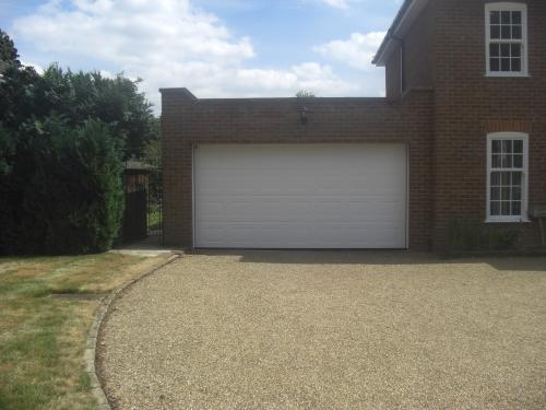 Garage door changed to sectional garage door in Farnborough Park