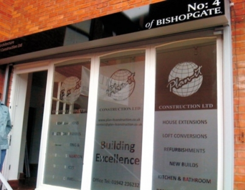 Window signage, Etch effects, One way mirror and tints, Self cling stickers, One way full colour prints