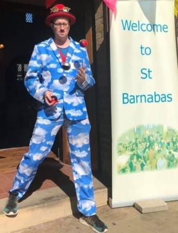 Gospel Juggling at St Barnabas Church - Sept2019