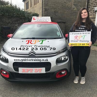 RPT Driver Training -Driving Lessons Halifax - Evie Allen