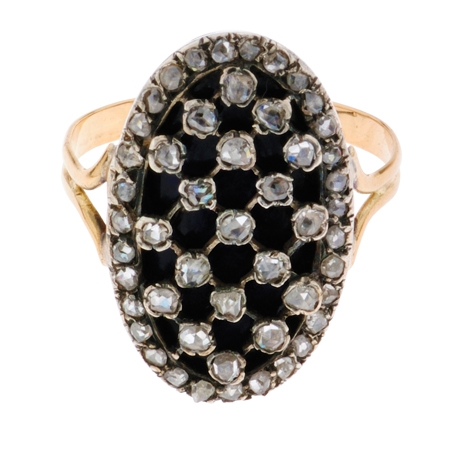 Antique Enamel and Diamond Ring