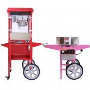 Popcorn and Candy Floss machine with carts